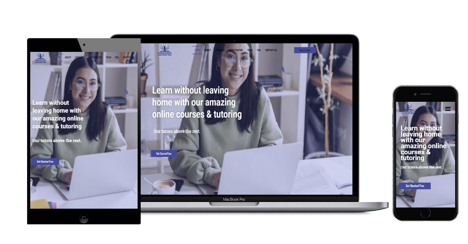 Phoenixed-Educational-Zone   Tutoring-website