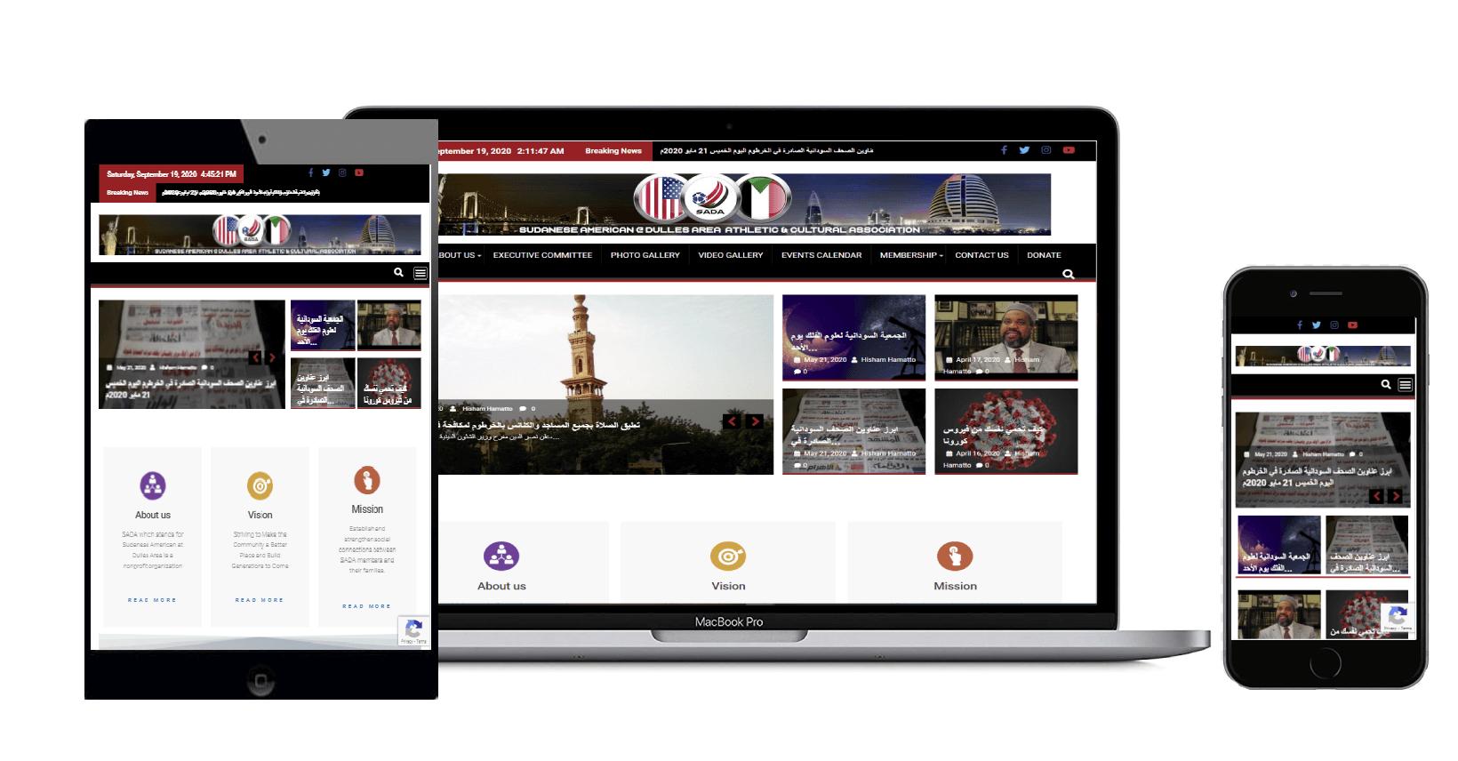 SADA-VA-Org   Non-Profit-Website