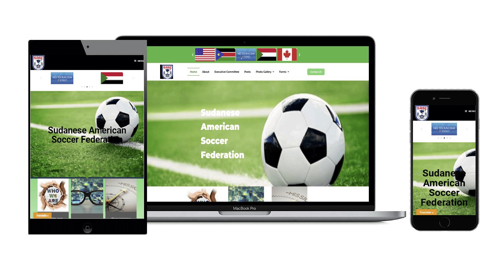 SASF   Non-Profit-Website